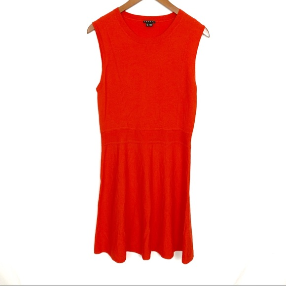 Theory Dresses & Skirts - Theory | Coral Red Wool Blend Dress Womens Sz L